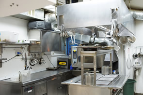 commercial kitchen setup